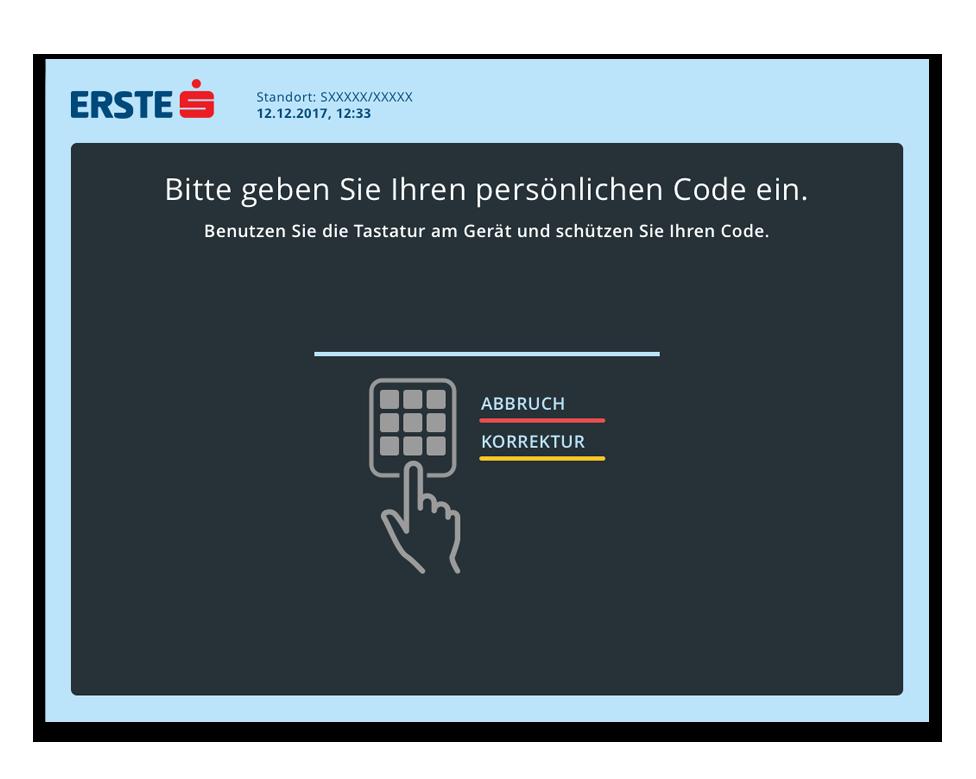 SB Erste Bank ATM Screen PIN