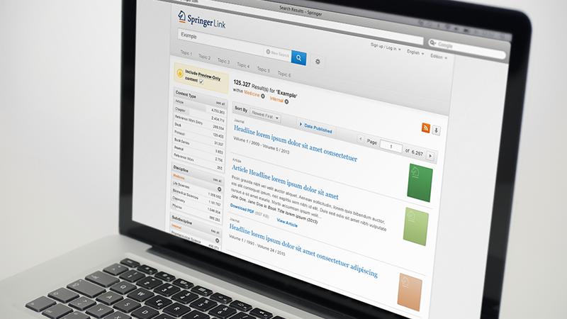 SpringerLink – einzigartige und geräteunabhängige User Experience