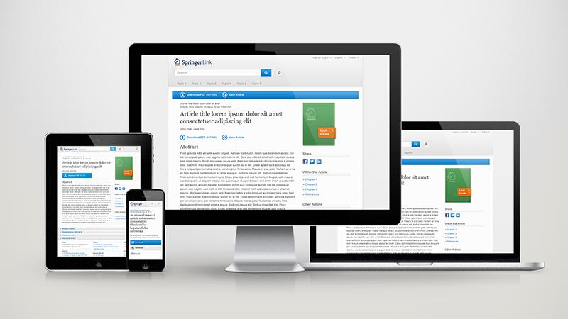 SpringerLink Design