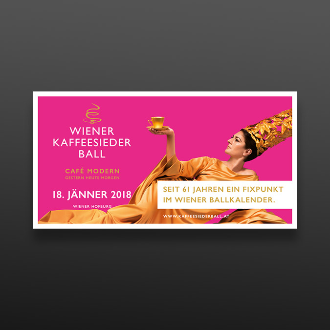 Wiener Kaffeesiederball – Werbesujet Design