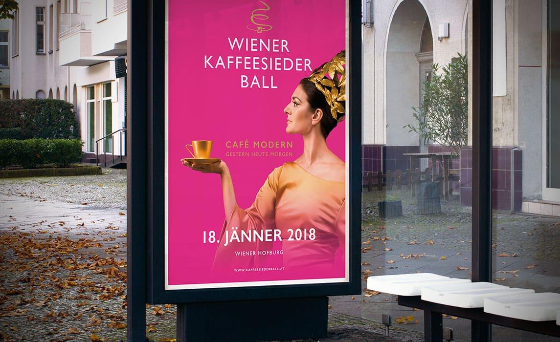 Wiener Kaffeesiederball – Poster Design