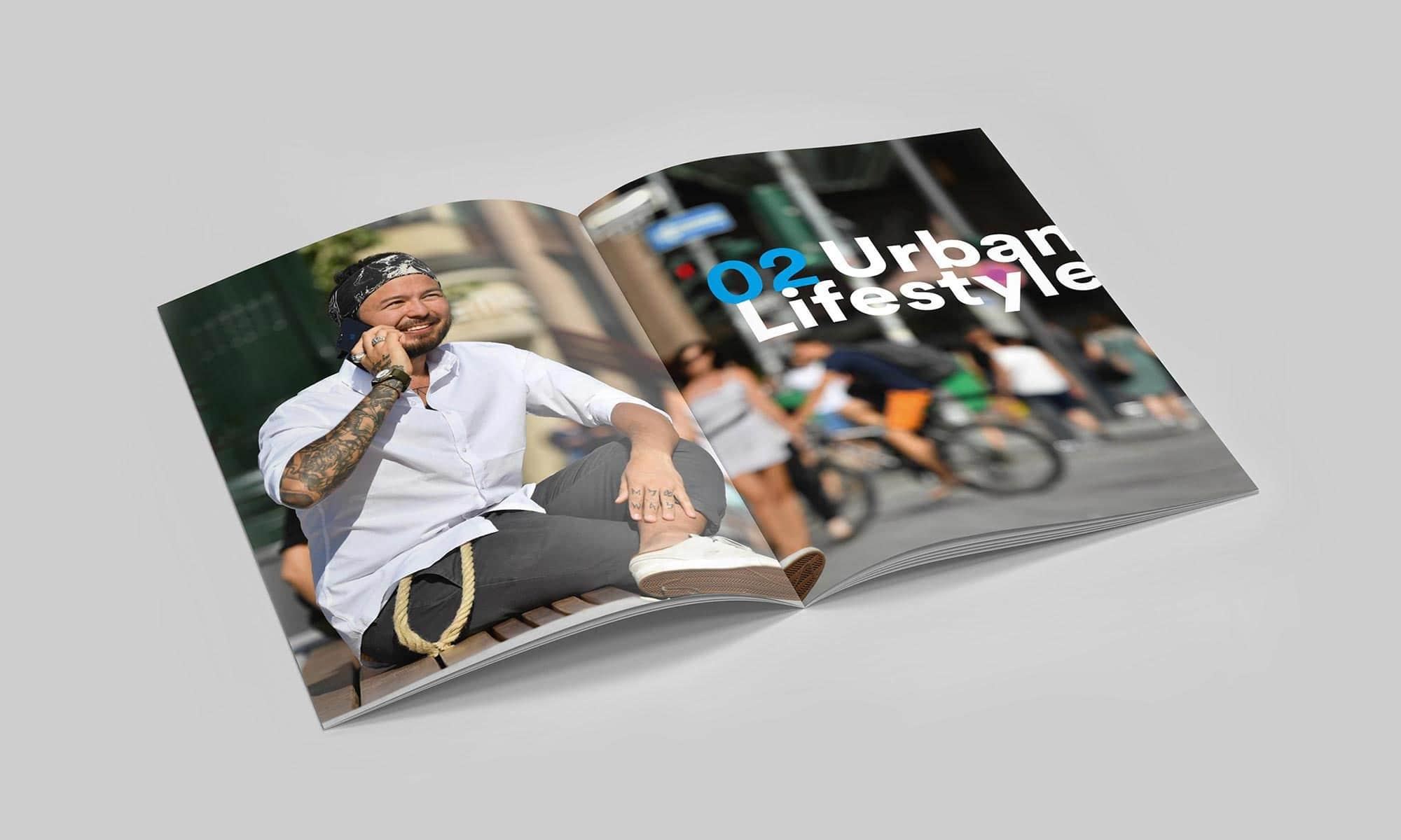 Ein Claim für Düsseldorf – Brand Design für Booklet – Kapiteltrenner