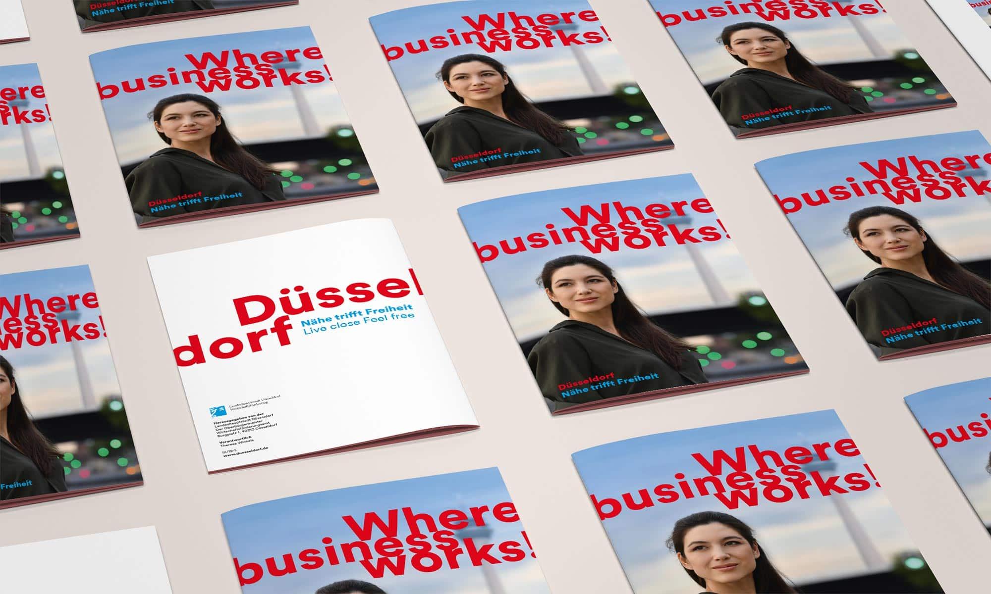 Ein Claim für Düsseldorf – Brand Design für Magazin – Back- & Frontcover