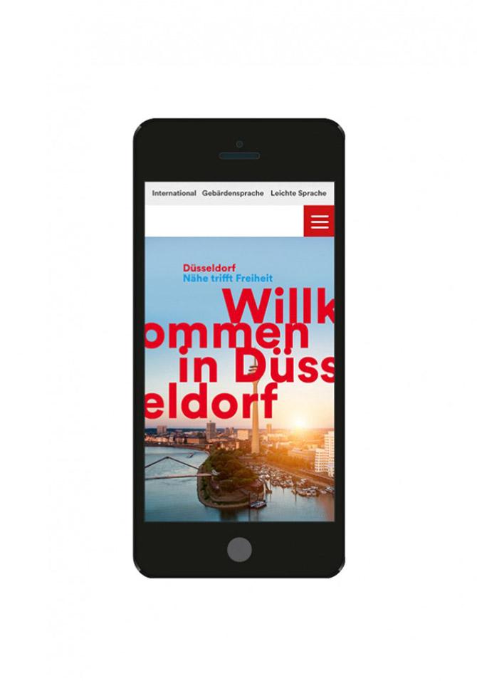 Ein Claim für Düsseldorf – Brand Design – Mobile Screen