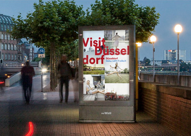 Ein Claim für Düsseldorf – Design für Werbesujet