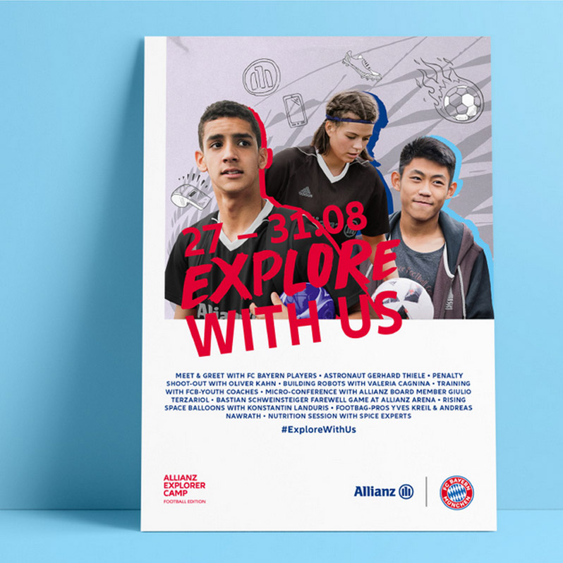 Allianz – Posterdesign – Explore with us