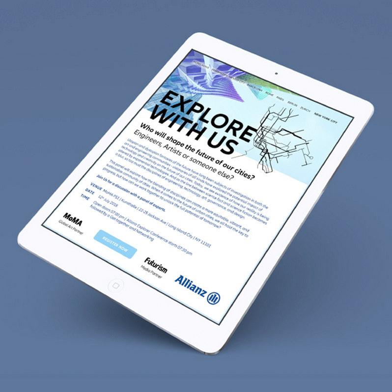 Allianz – New Digital Brand Experience Design für Website Explore with us