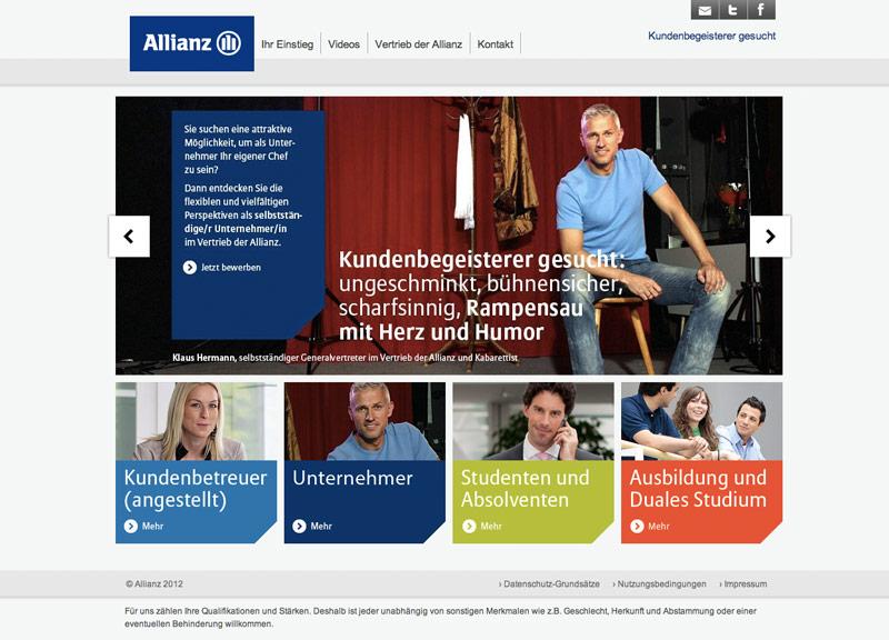 Allianz Online Kampagne