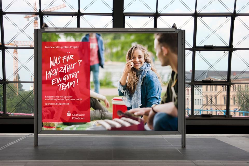 Sparkasse – Werbesujet Design – Azubi