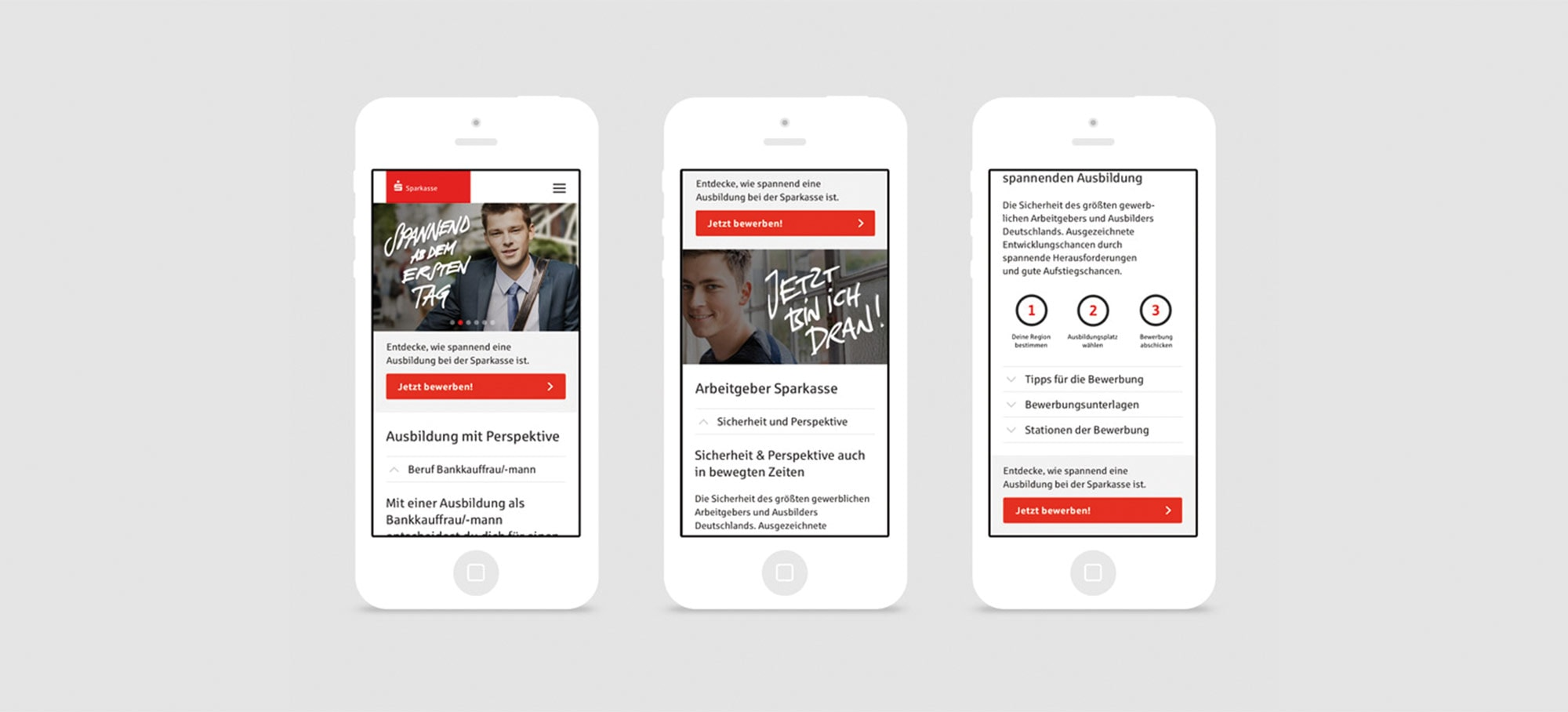 Sparkasse – Website Design für Mobile Devices