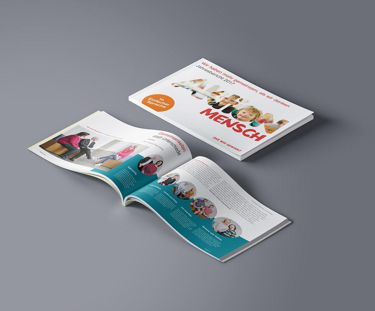 Aktion Mensch – Design für Broschüre – Jahresbericht