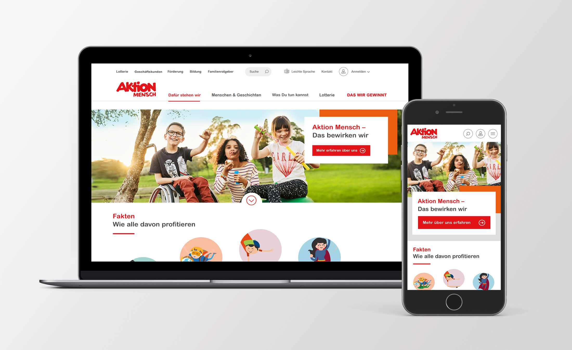 Aktion Mensch – Responsive Web Design