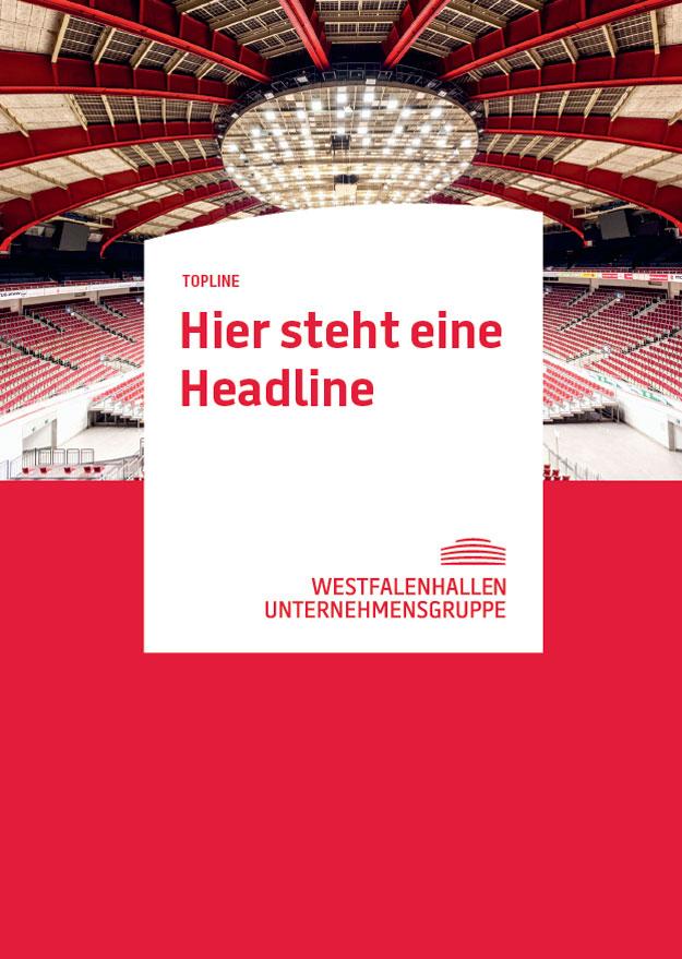 Westfalenhallen Unternehmensgruppe – Poster Design – Rot