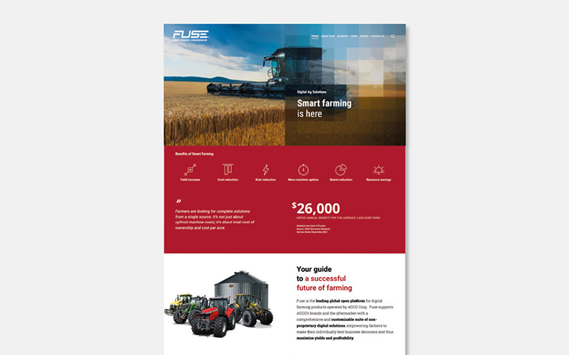 Fuse – Web Design – Homepage