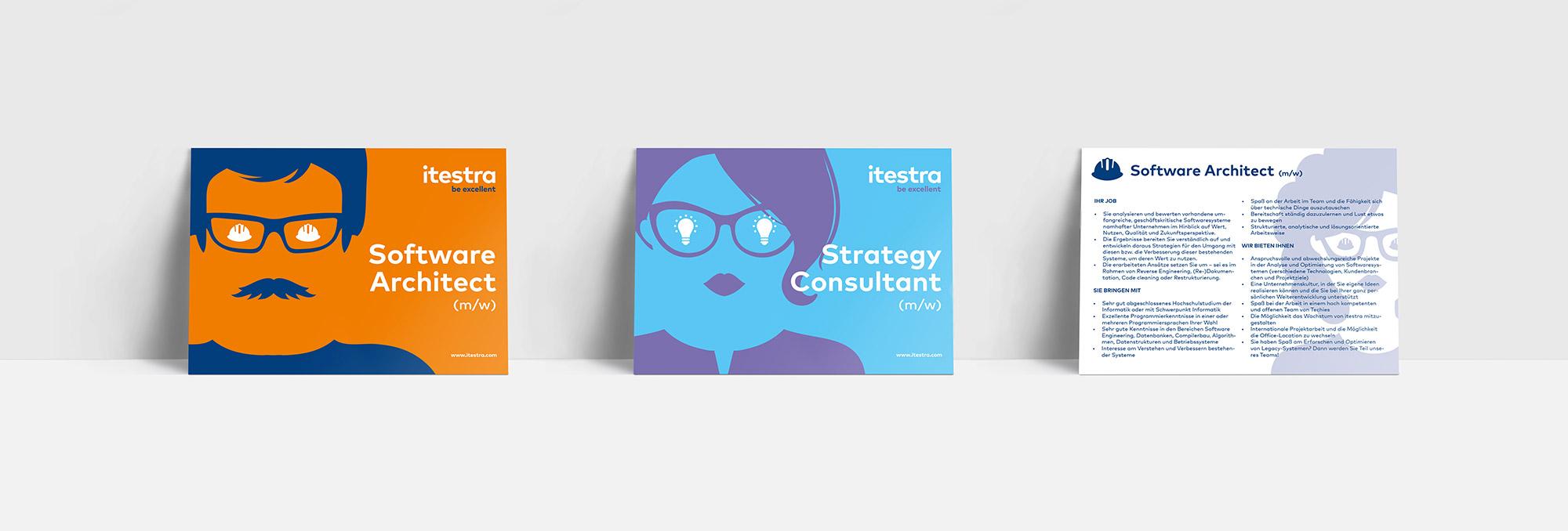 Itestra – Postcard Design