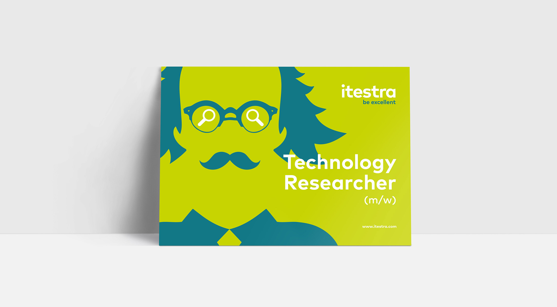 Itestra – Postcard Design – Technology Researcher