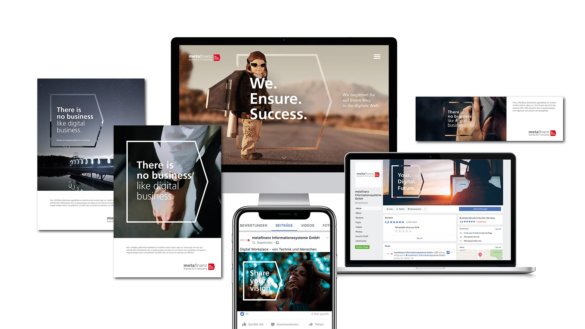metafinanz – Responsive Design & Werbesujet Design