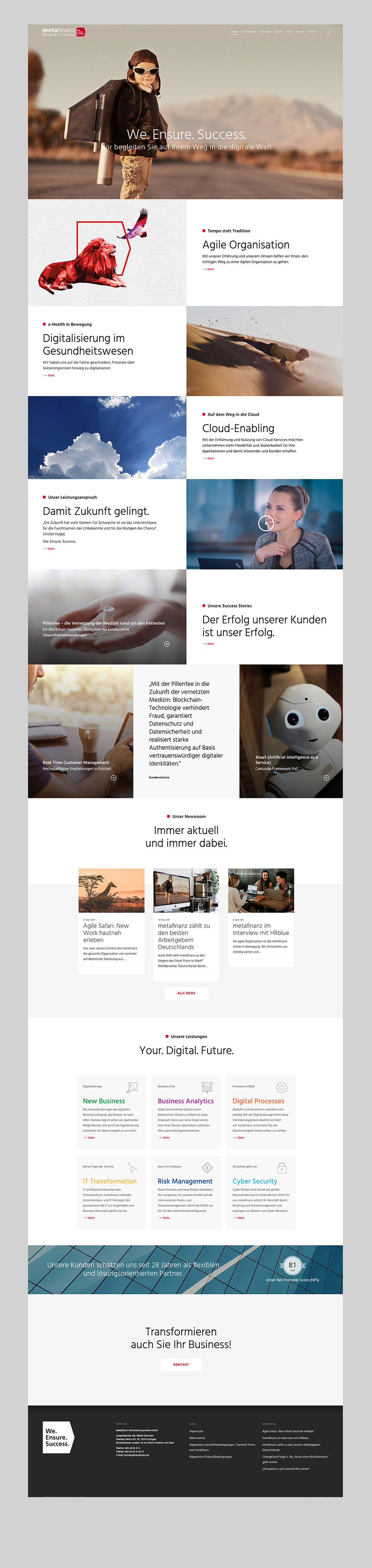 metafinanz – Web Design – Home