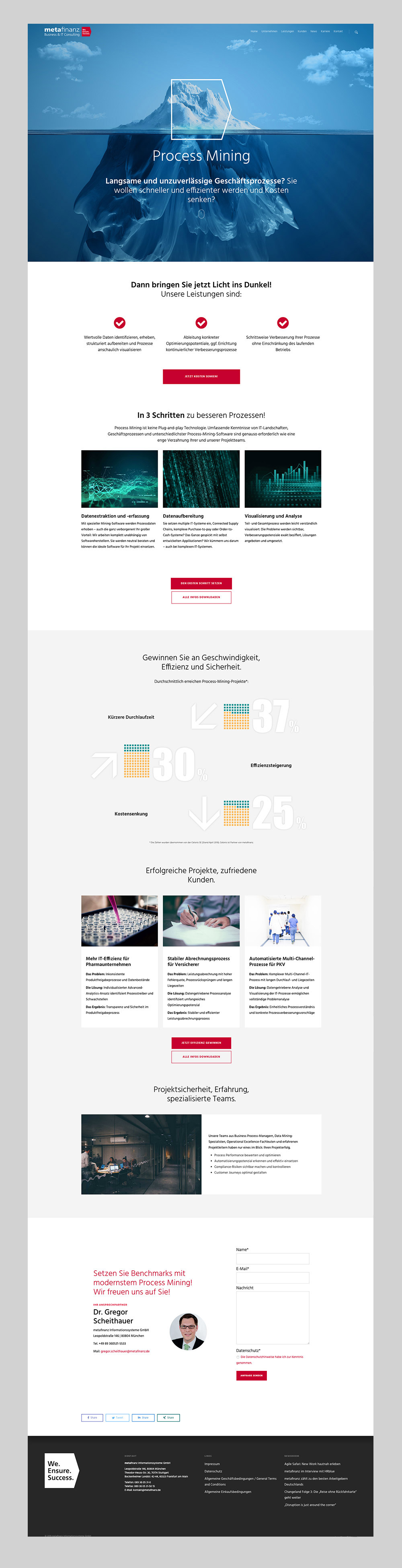 metafinanz – Web Design – Process Mining