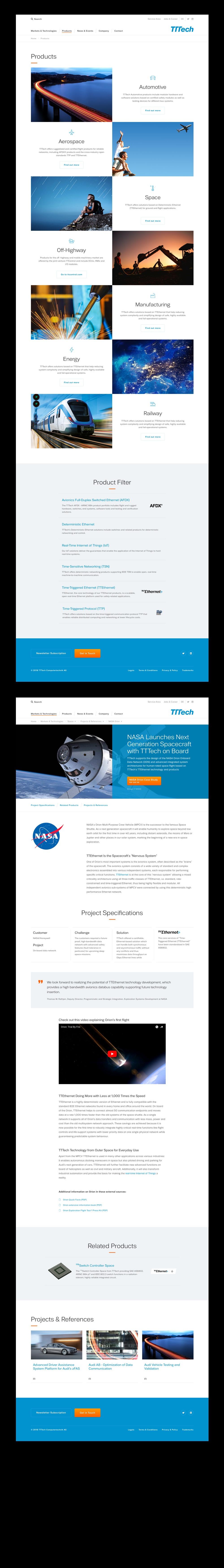 TTTech - Website Relaunch & Design