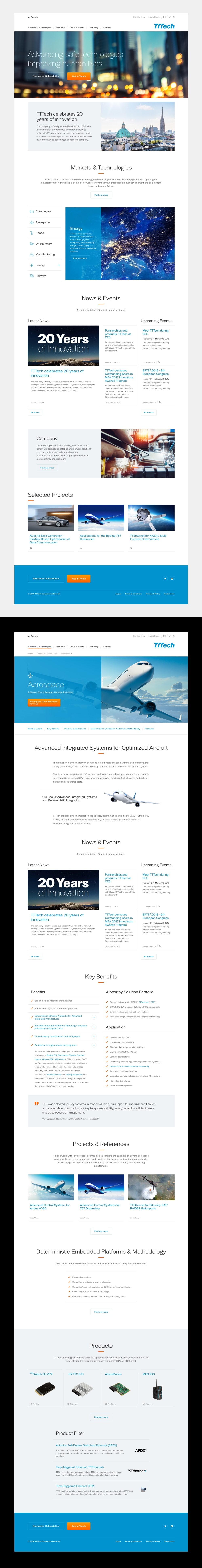 TTTech – Website Design