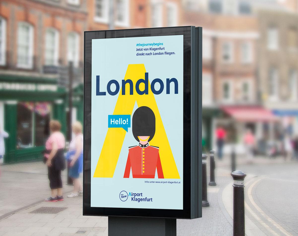 Airport Klagenfurt Street-Billboard-London