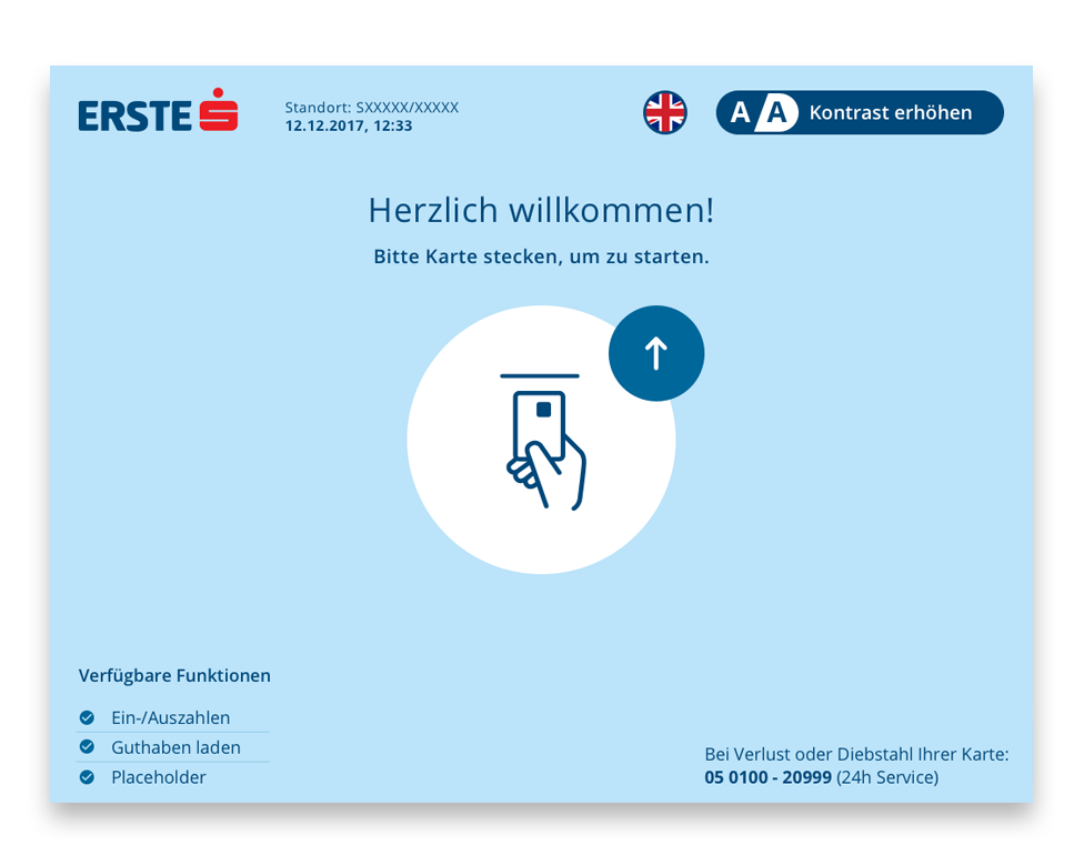 SB Erste Bank Welcome Screen