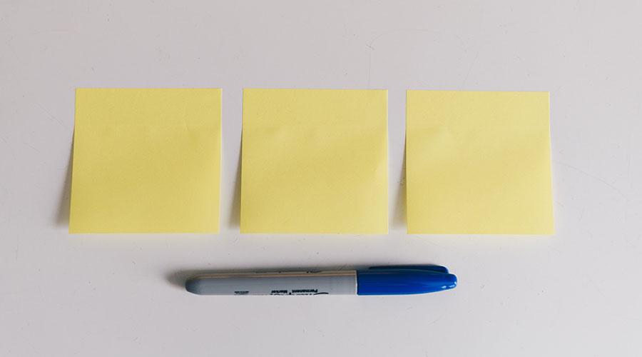 Sticky notes - unser bevorzugtes Kreativwerkzeug für Workshops