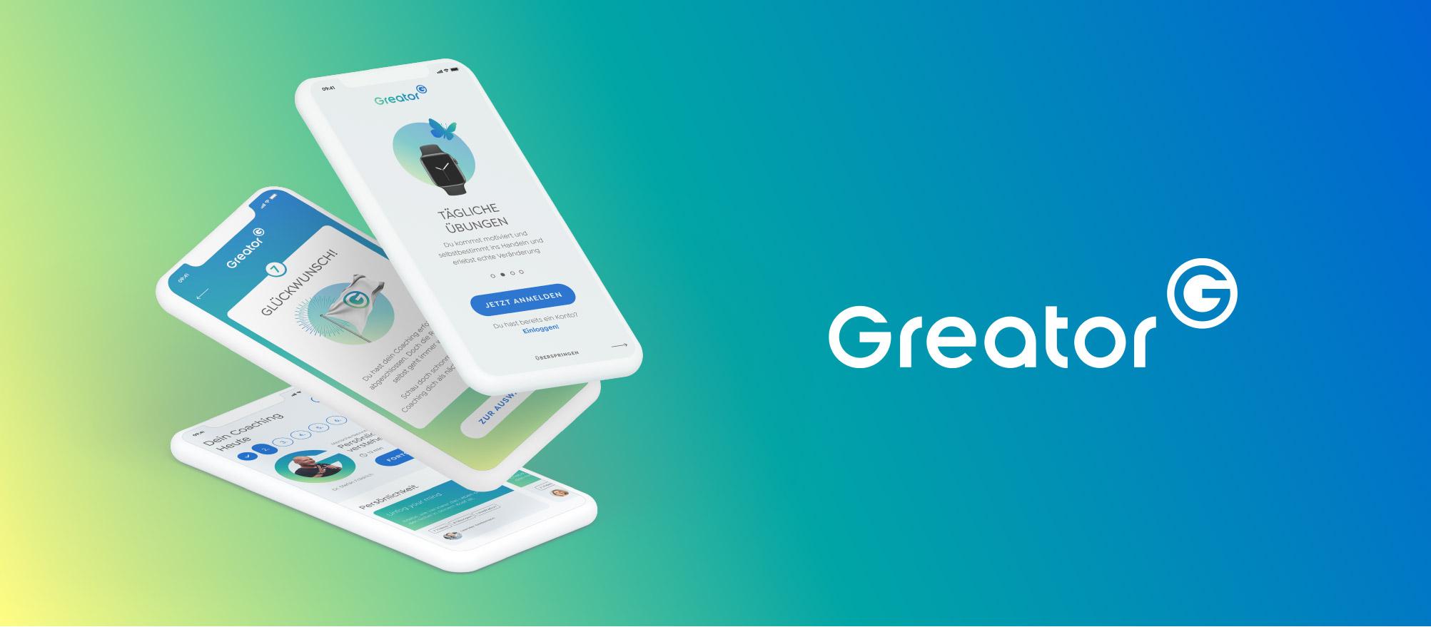 3 App Screens auf Verlauf