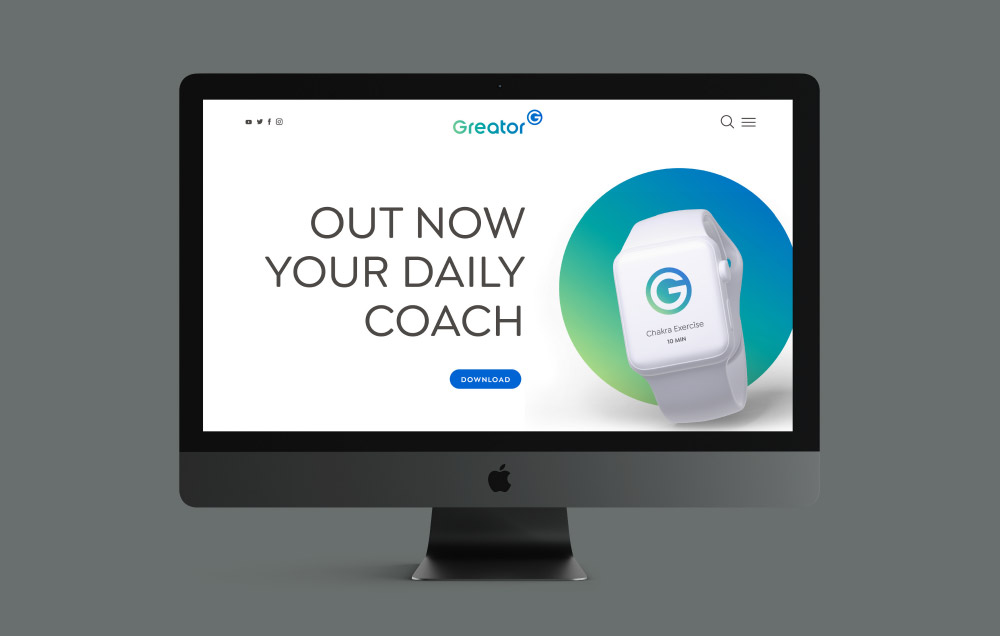 Screen mit App Promo