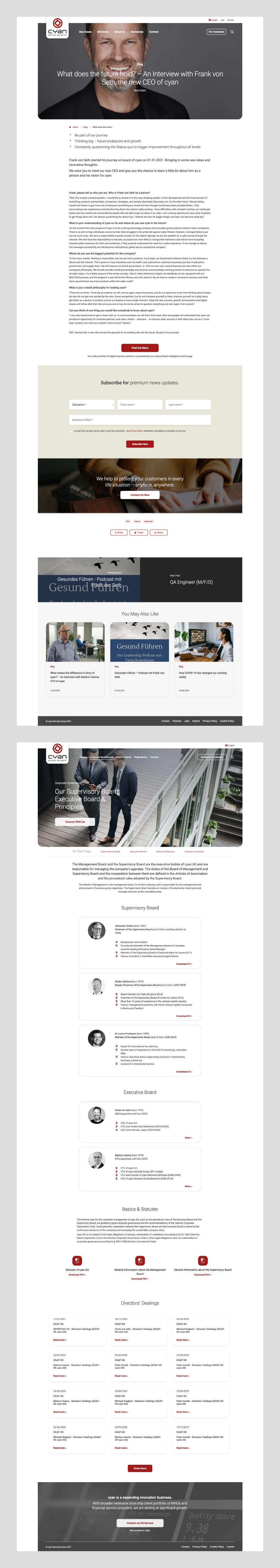 Cyan Digital Security Webdesign by dmcgroup